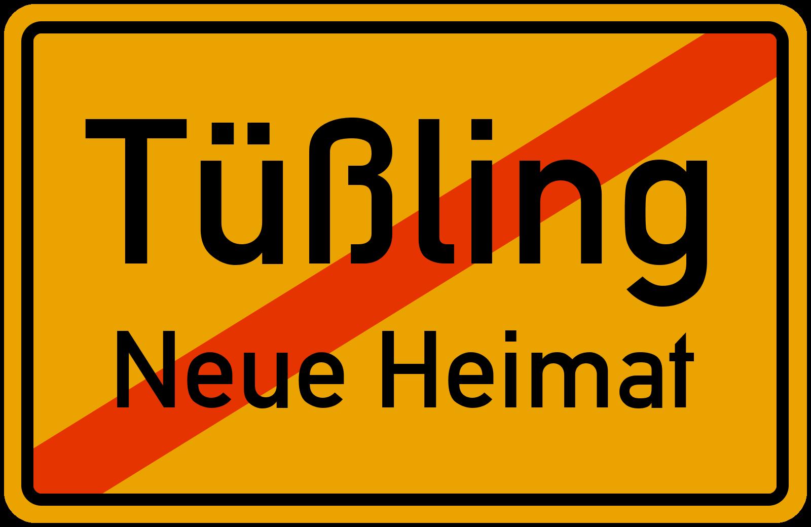 Ortsschild Tussling Neue Heimat Kostenlos Download Drucken