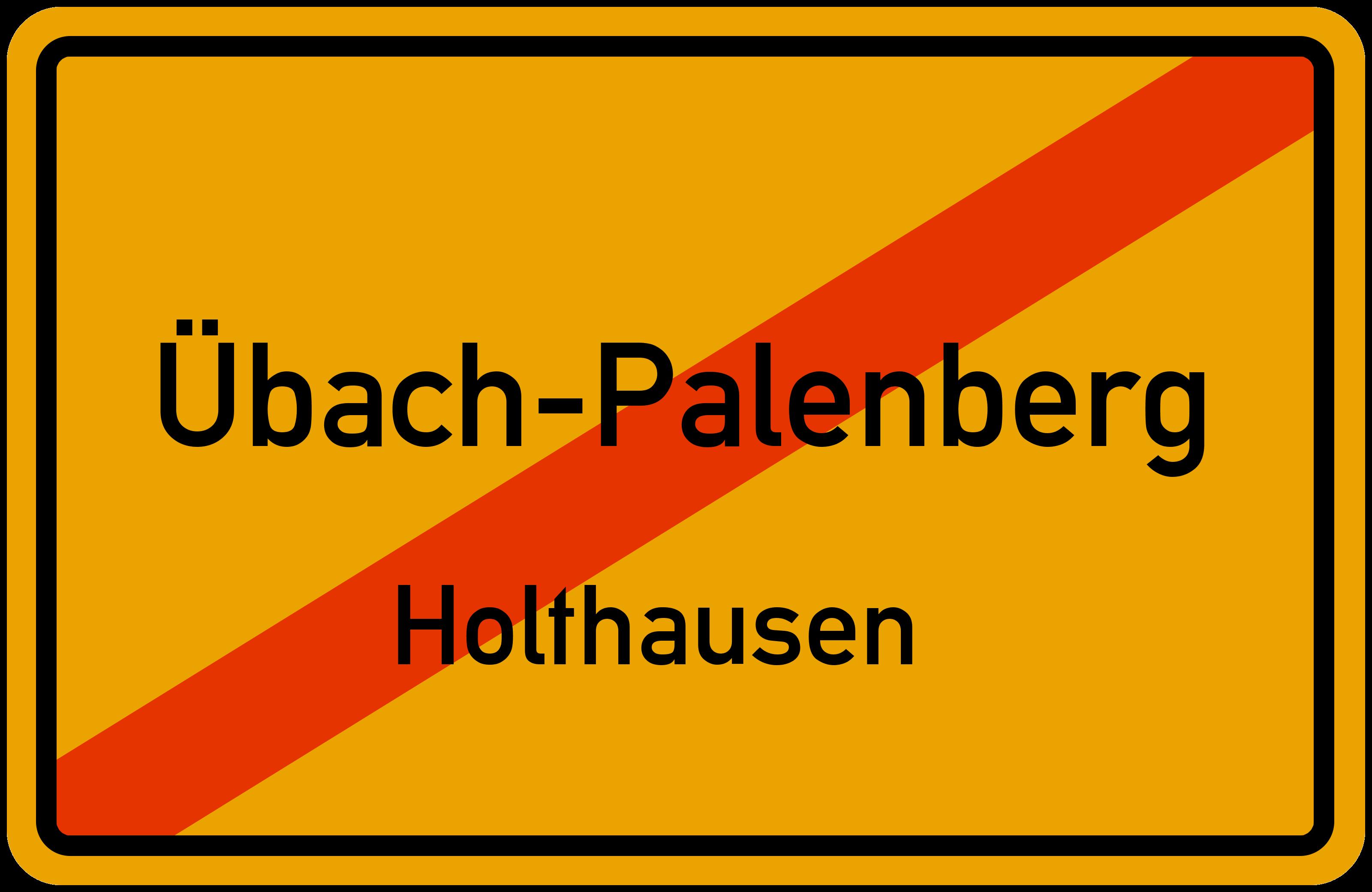Ortsschild Ubach Palenberg Holthausen Kostenlos Download Drucken
