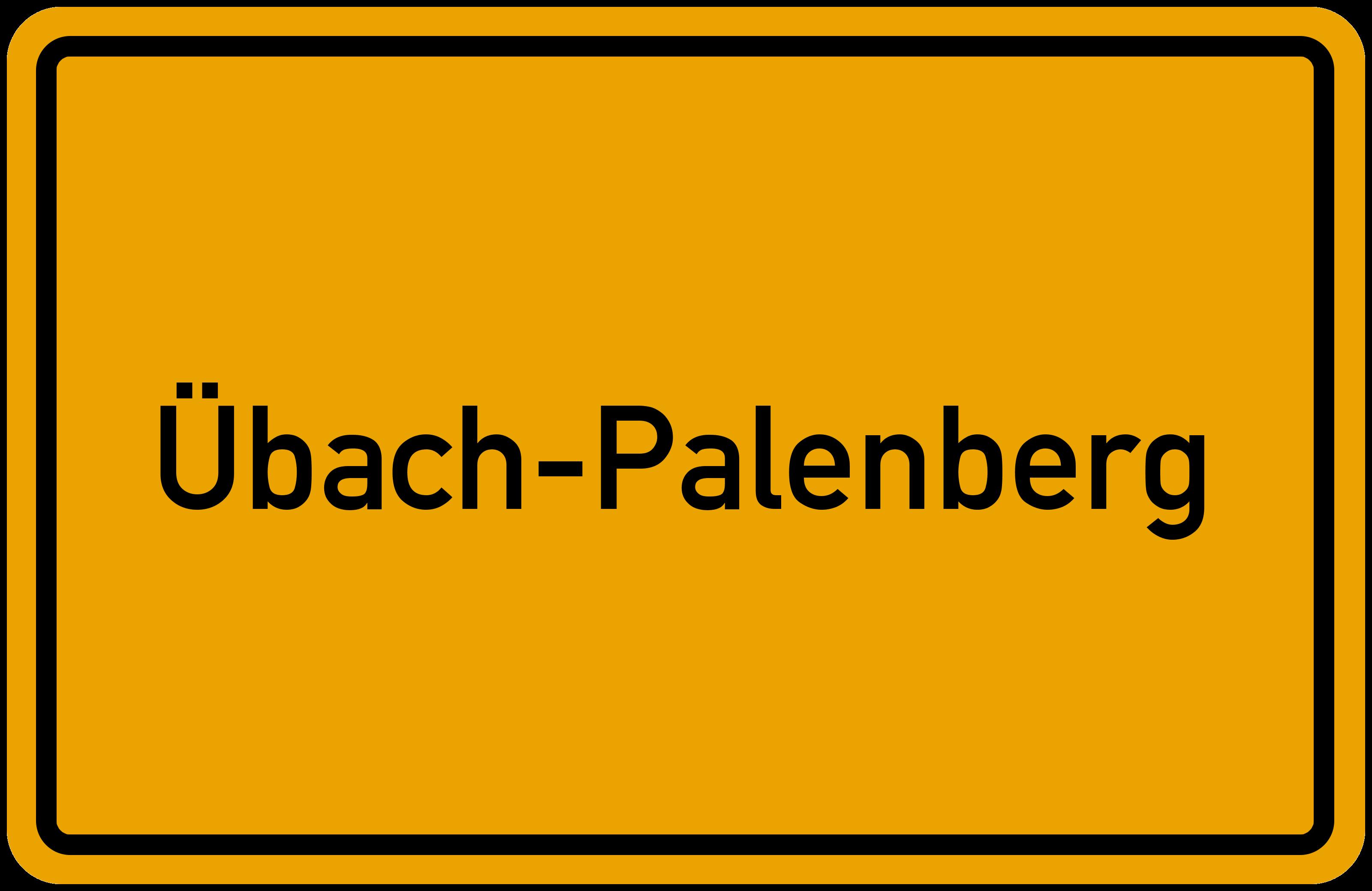 Ortsschild Ubach Palenberg Kostenlos Download Drucken