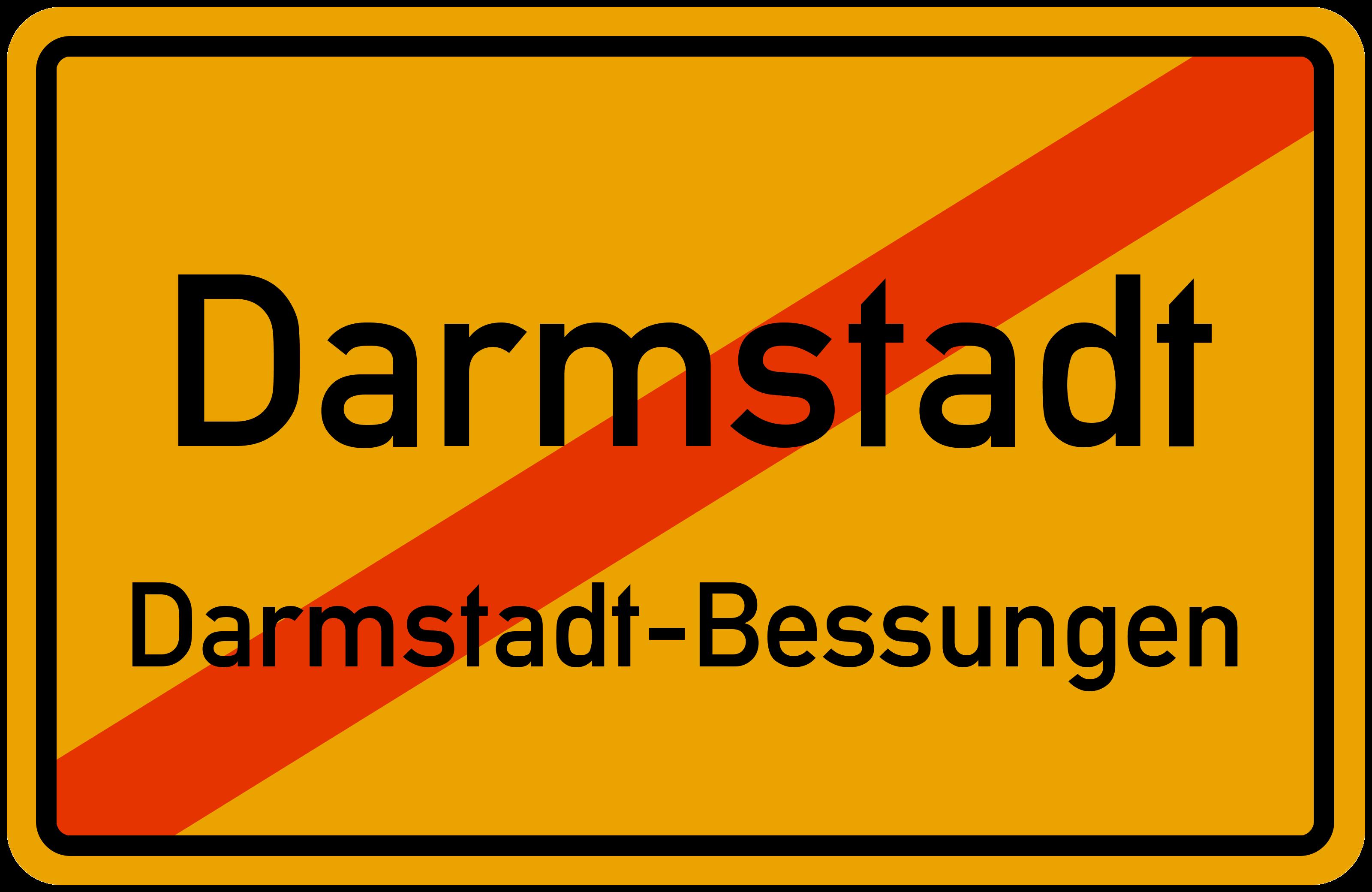 Ortsschild Darmstadt Darmstadt Bessungen Kostenlos Download Drucken