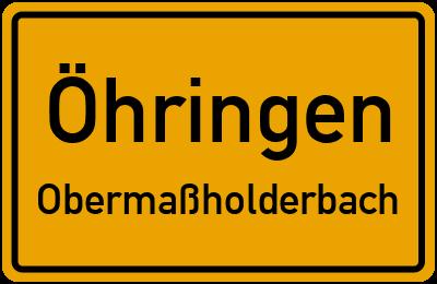Ortsschild Öhringen Obermaßholderbach