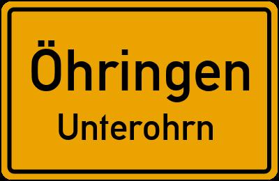 Ortsschild Öhringen Unterohrn