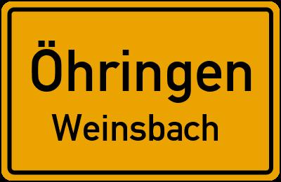 Ortsschild Öhringen Weinsbach