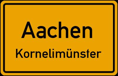 Straßenverzeichnis Aachen Kornelimünster