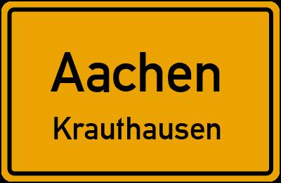 Ortsschild Aachen Krauthausen
