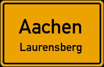 Ortsschild Aachen Laurensberg