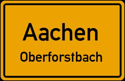 Straßenverzeichnis Aachen Oberforstbach