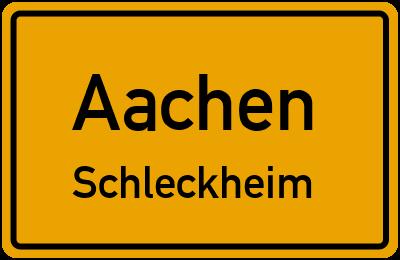 Straßenverzeichnis Aachen Schleckheim