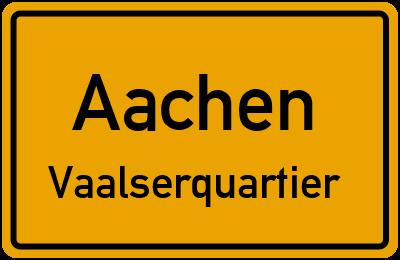 Ortsschild Aachen Vaalserquartier
