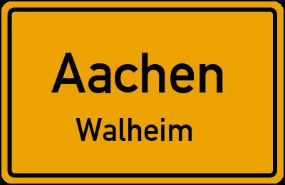 Straßenverzeichnis Aachen Walheim