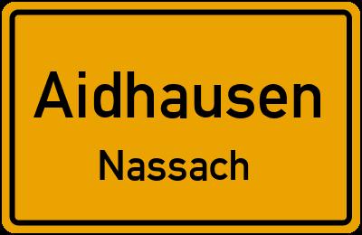 Straßenverzeichnis Aidhausen Nassach