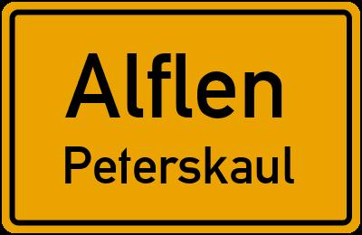 Gartenstraße in AlflenPeterskaul