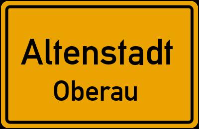 Ortsschild Altenstadt Oberau