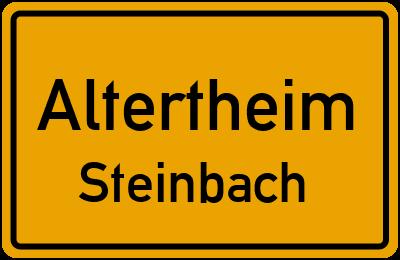 Ortsschild Altertheim Steinbach