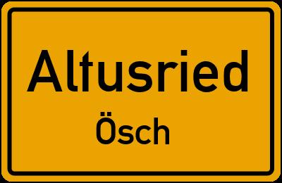 Straßenverzeichnis Altusried Ösch