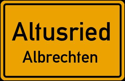 Straßenverzeichnis Altusried Albrechten