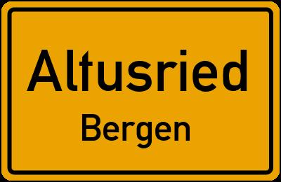 Straßenverzeichnis Altusried Bergen