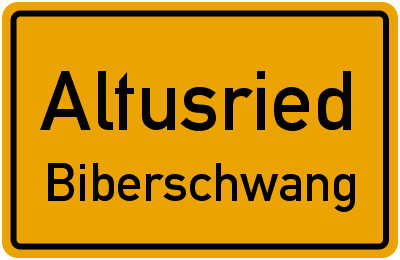 Straßenverzeichnis Altusried Biberschwang