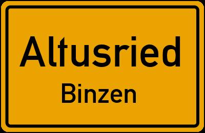 Straßenverzeichnis Altusried Binzen