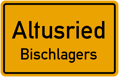 Straßenverzeichnis Altusried Bischlagers