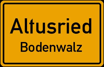 Straßenverzeichnis Altusried Bodenwalz