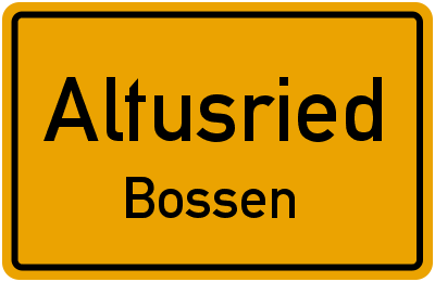 Straßenverzeichnis Altusried Bossen