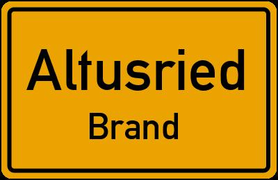 Straßenverzeichnis Altusried Brand