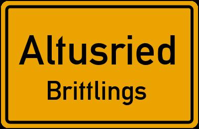 Straßenverzeichnis Altusried Brittlings
