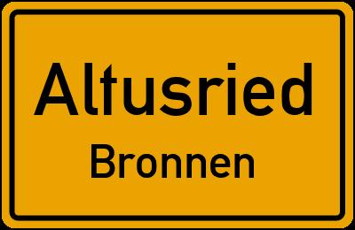 Straßenverzeichnis Altusried Bronnen