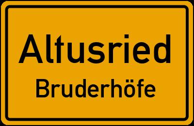 Straßenverzeichnis Altusried Bruderhöfe