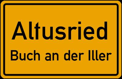 Straßenverzeichnis Altusried Buch an der Iller