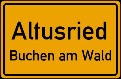 Straßenverzeichnis Altusried Buchen am Wald