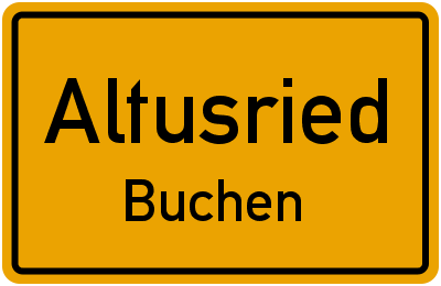 Straßenverzeichnis Altusried Buchen