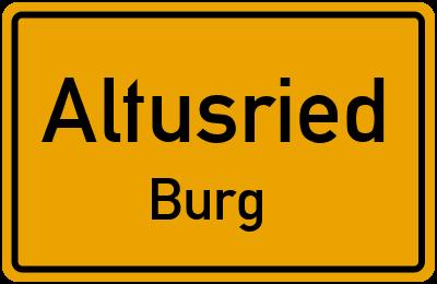 Straßenverzeichnis Altusried Burg