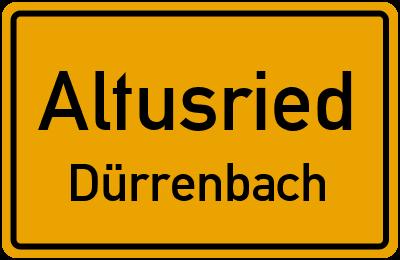 Straßenverzeichnis Altusried Dürrenbach