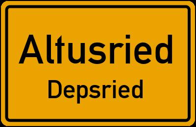 Straßenverzeichnis Altusried Depsried