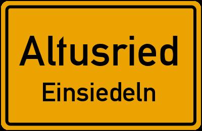 Straßenverzeichnis Altusried Einsiedeln