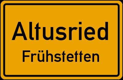 Straßenverzeichnis Altusried Frühstetten