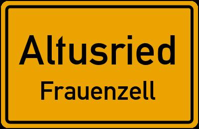 Straßenverzeichnis Altusried Frauenzell