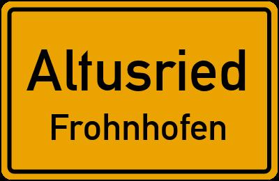 Straßenverzeichnis Altusried Frohnhofen