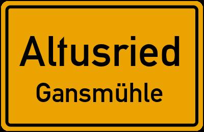 Straßenverzeichnis Altusried Gansmühle