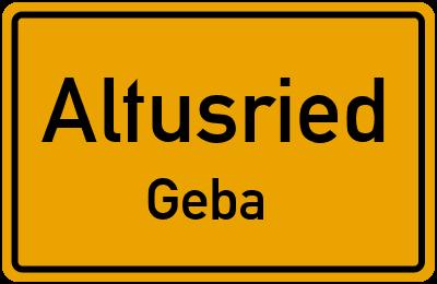 Straßenverzeichnis Altusried Geba