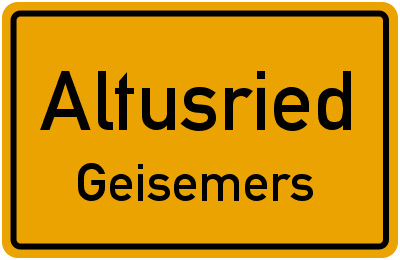 Straßenverzeichnis Altusried Geisemers