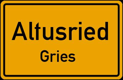Straßenverzeichnis Altusried Gries