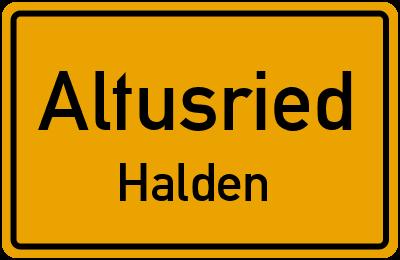 Straßenverzeichnis Altusried Halden