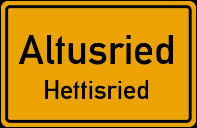 Straßenverzeichnis Altusried Hettisried