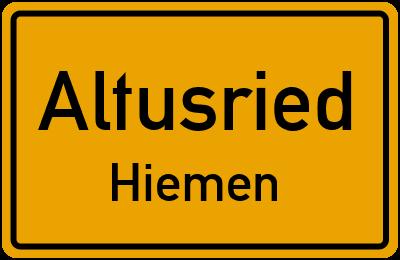 Straßenverzeichnis Altusried Hiemen