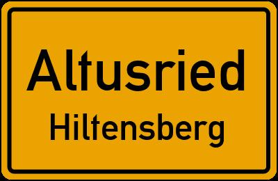 Straßenverzeichnis Altusried Hiltensberg
