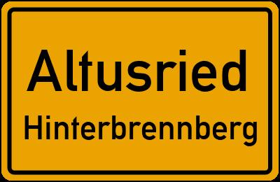 Straßenverzeichnis Altusried Hinterbrennberg