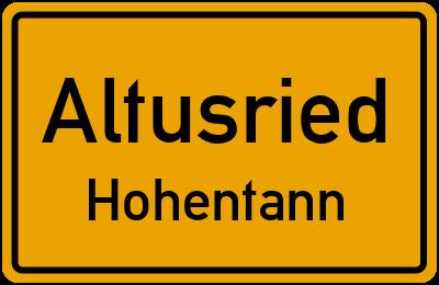 Straßenverzeichnis Altusried Hohentann